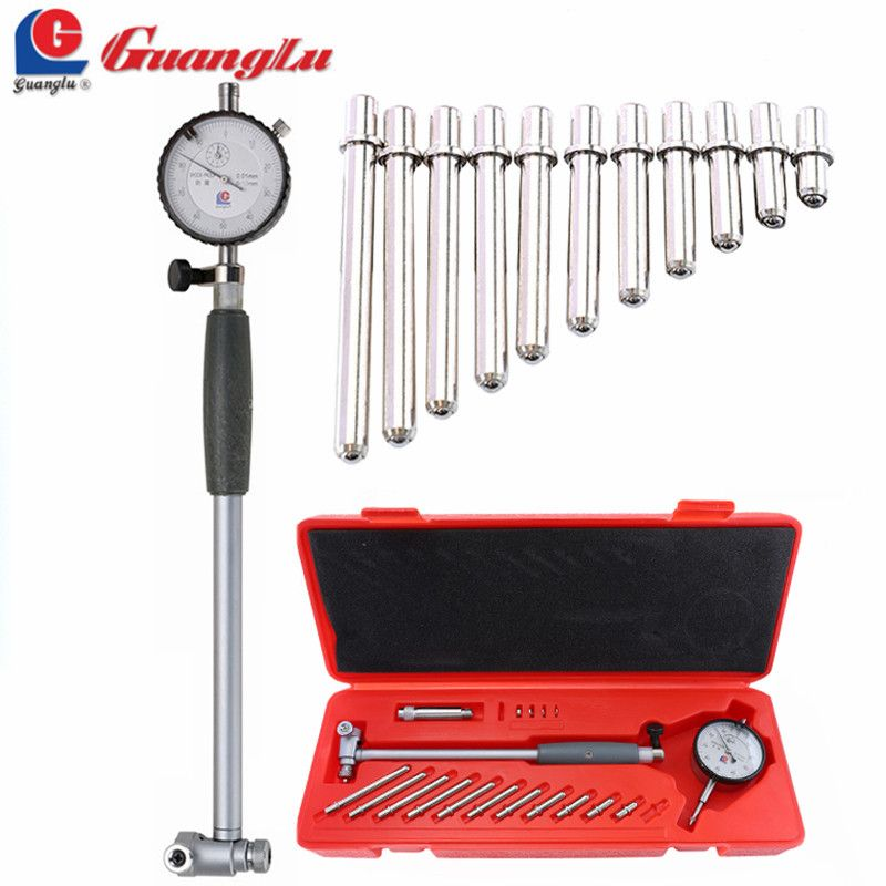 GUANGLU Dial Bore Gauge 50-160mm/0.01mm Center Ring Dial Indicator Micrometer Gauges Measuring Tools