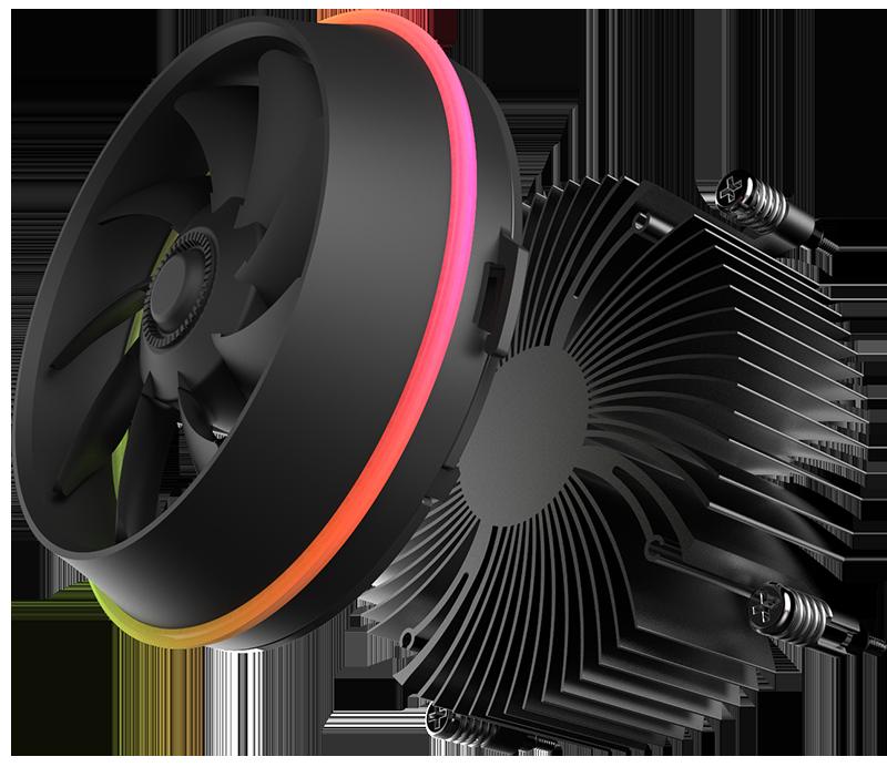 Aigo darkflash ombre HAUT-DÉBIT CPU Refroidisseur AURA SYNC TDP 280 W PWM 4pin Double Anneau LED RGB Ventilateur radiateur Cooler pour intel LGA 115x