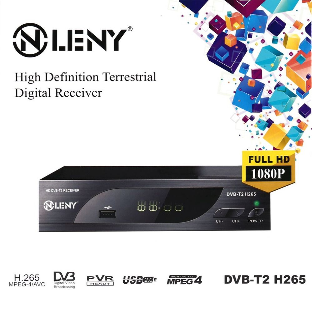 ONLENY DVB-T2 H.265 Full HD 1080P High Definition Digital Terrestrial Receiver USB2.0 Port with PVR Function and External HDD