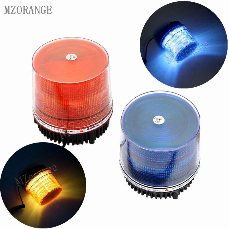 MZORANGE DC12V 24V Warning flash beacon safety Strobe Emergency light Magnetic Mounted Police lights Blue Amber Yellow