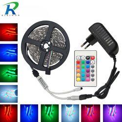 Led Strip Light RGB 2835 DC12V 5M 10M 15M 20M Waterproof Flexible Lighting String Ribbon With 24key Controller Decoration Tape