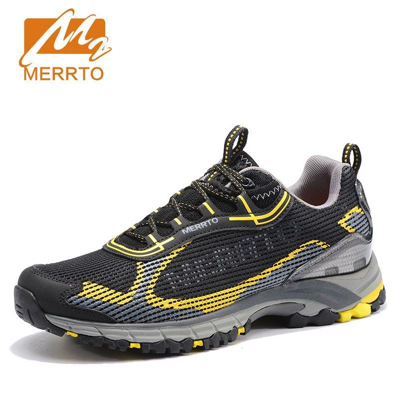 2017 Merrto Men Walking Shoes Breathable Sneaker Lightweight Outdoor Trekking Shoes For Men Breathable Air Mensh Trekking Shoes