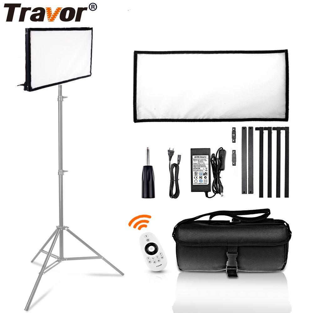 Travor FL-3060A LED Video Licht 30*60 CM Flexible Panel Licht 3200 K/5500 K Studio Fotografie Beleuchtung mit 2,4G Fernbedienung