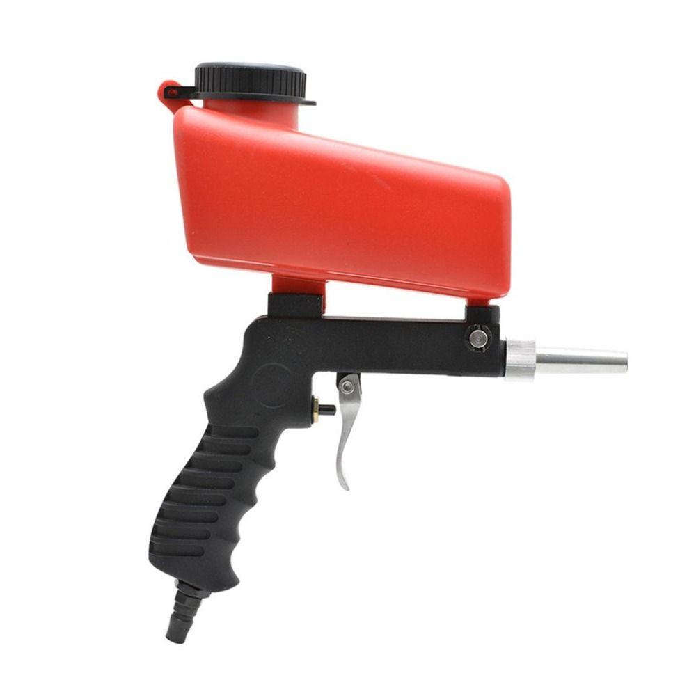 Gravity Feed Portable Air Sandblast Sand Spray Gun Car Rust Remove Sandblaster Air Tools Car Paint Rust Removal Tool