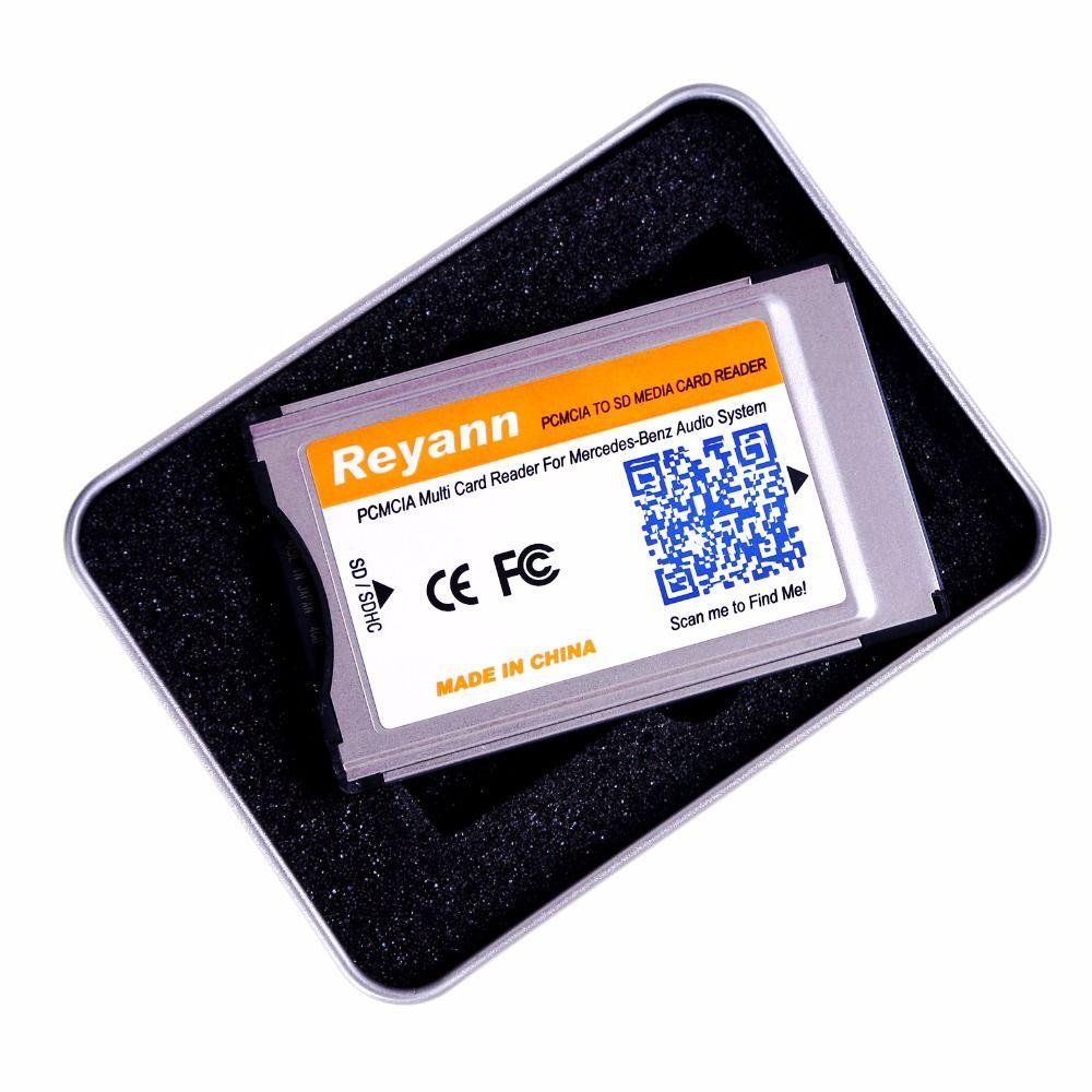 Adaptateur de lecteur de carte Reyann SD vers PCMCIA pour système de commande APS mercedes-benz avec emplacement PCMCIA système Audio MP3 jusqu'à 32 go SDHC
