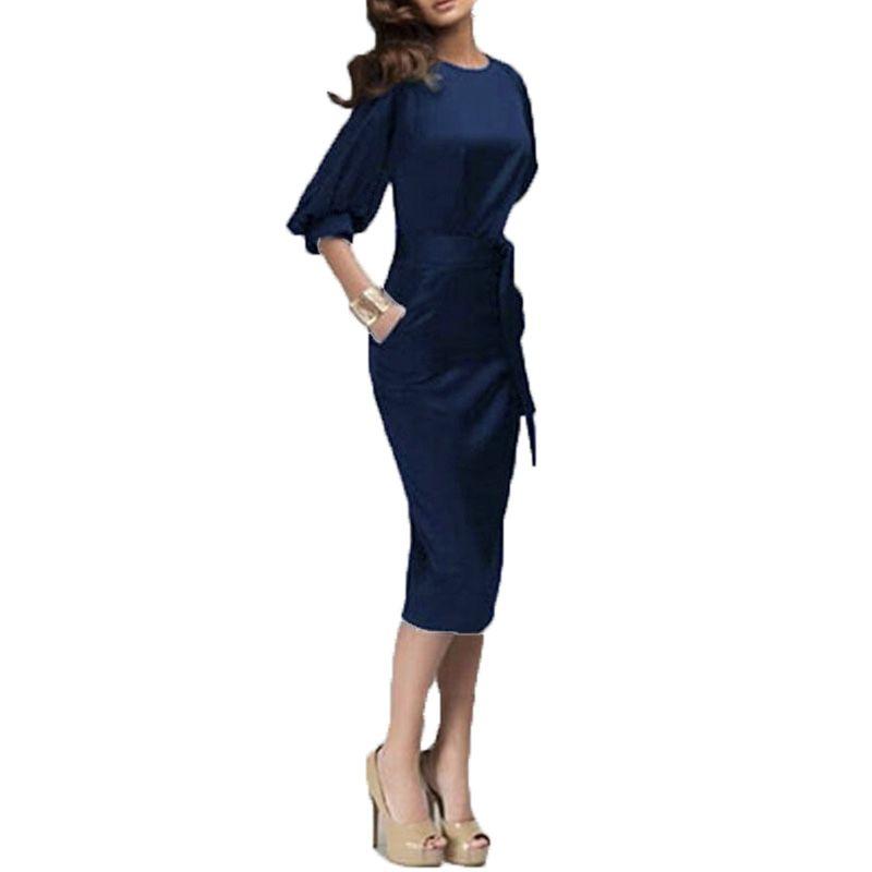 Zanzea 2018 Women Summer Dress European Half Sleeve Elegant Ladies Dresses Bodycon Pencil Slim <font><b>Party</b></font> Dresses Vestidos De Fiesta