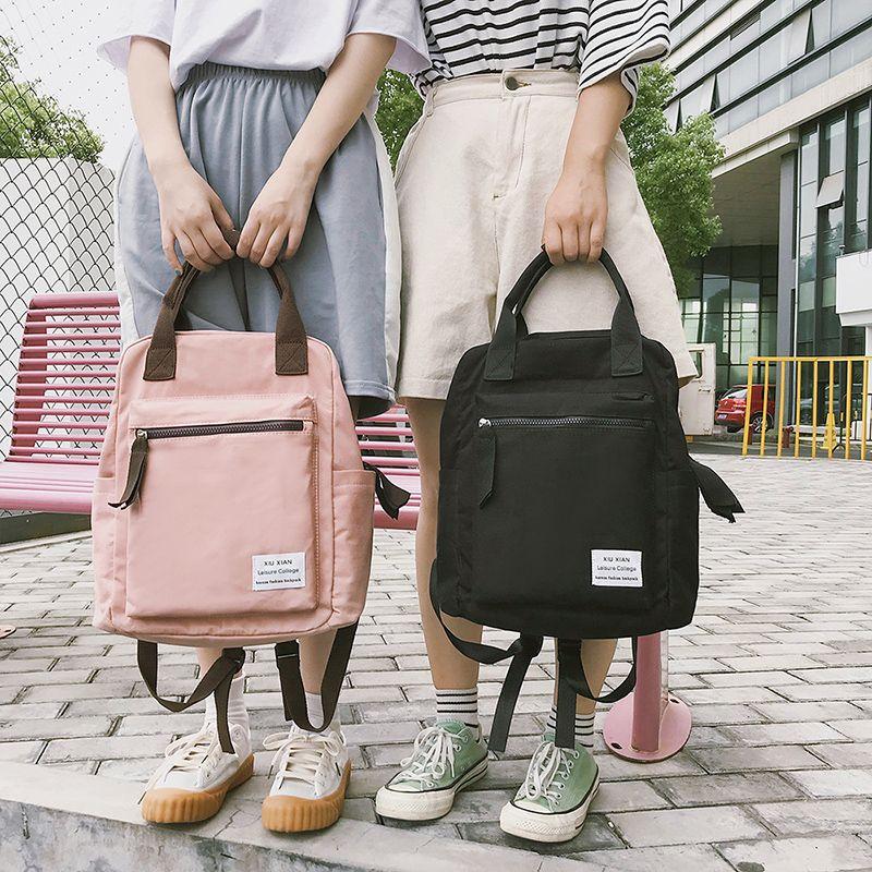 Style coréen toile sac à dos pour femmes Simple mode jeunesse voyage sac à dos loisirs école sac fourre-tout pour adolescente sac à bandoulière