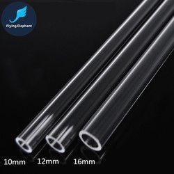 OD 8mm 10mm 12mm 14mm 16mm 18mm 20mm Transparent Acrylique Tube PMMA verre Organique Pour L'eau De Refroidissement Tube Dur 40 cm