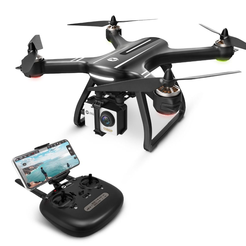 EU USA CA Stock Holy Stone HS700 1KM Flight Range Brushless Motor 2800mAh Selfie 5GHz 400m Wifi GPS FPV Helicopter FHD 1080P Cam