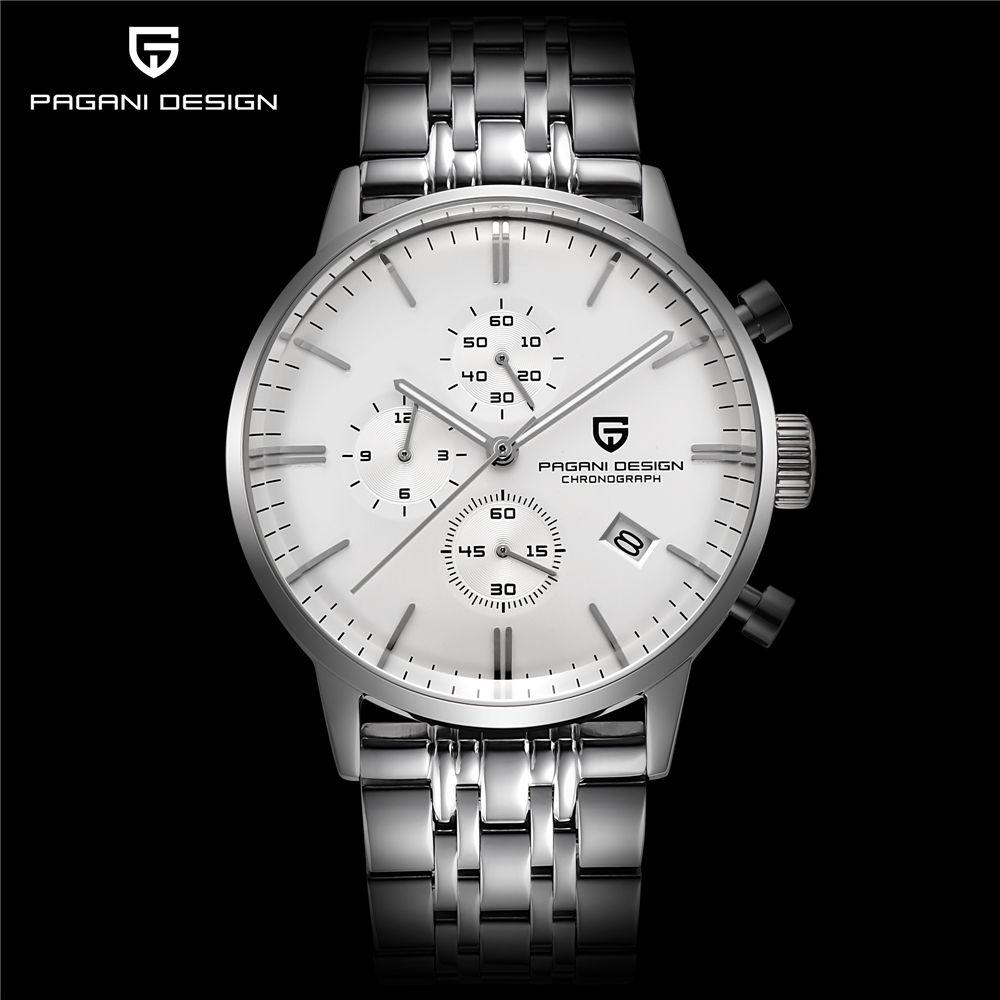 2018 herren Uhren Top Brand Luxus Pagani Business Edelstahl Quarzuhr Männer Sport Wasserdichte Uhr Relogio Masculino