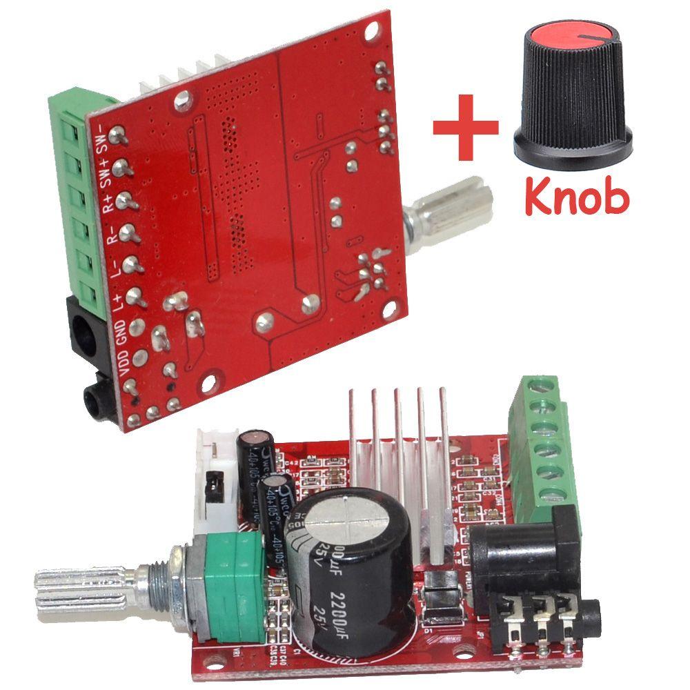 En gros tout nouveau Mini HI-FI haute puissance 2.1 DC10-18V amplificateur numérique carte 15 W * 2 + 30 W classe D amplificateur avec bouton-10000622