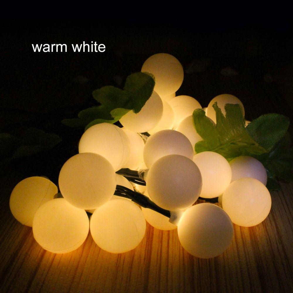 16FT 30 Led Boule Solaire fée lumière jardin guirlande de noël décor Led guirlande lumineuse 5 m solaire lampe extérieure RGB blanc