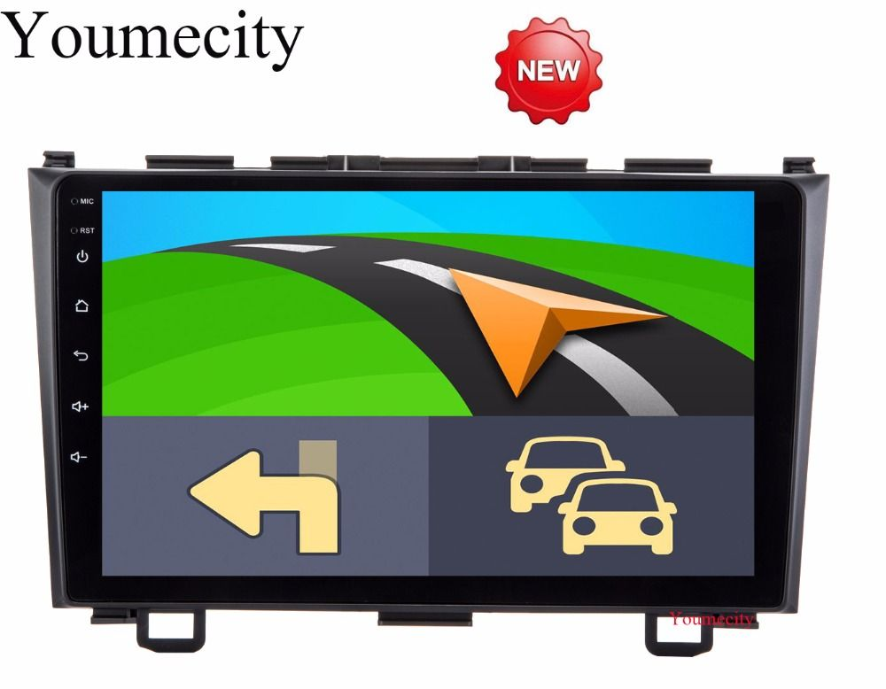 Youmecity Car dvd player GPS Navi For Honda CRV 2007-2011 Capacitive screen 1024 *600 +wifi+BT+SWC+RDS+Android 7.1+2G RAM+4G