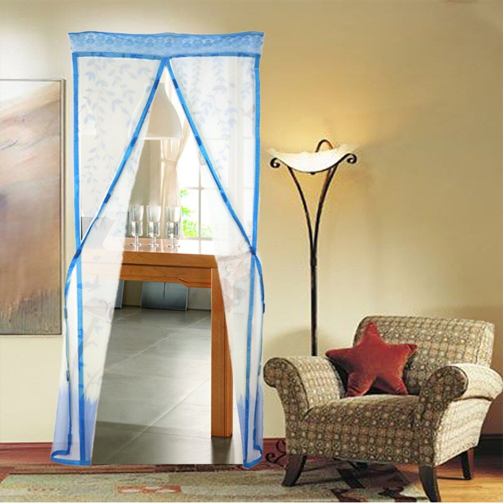 4 Color Curtain Anti Mosquito Magnetic Tulle Shower Curtain Automatic Closing Door Screen Summer Style Mesh Net