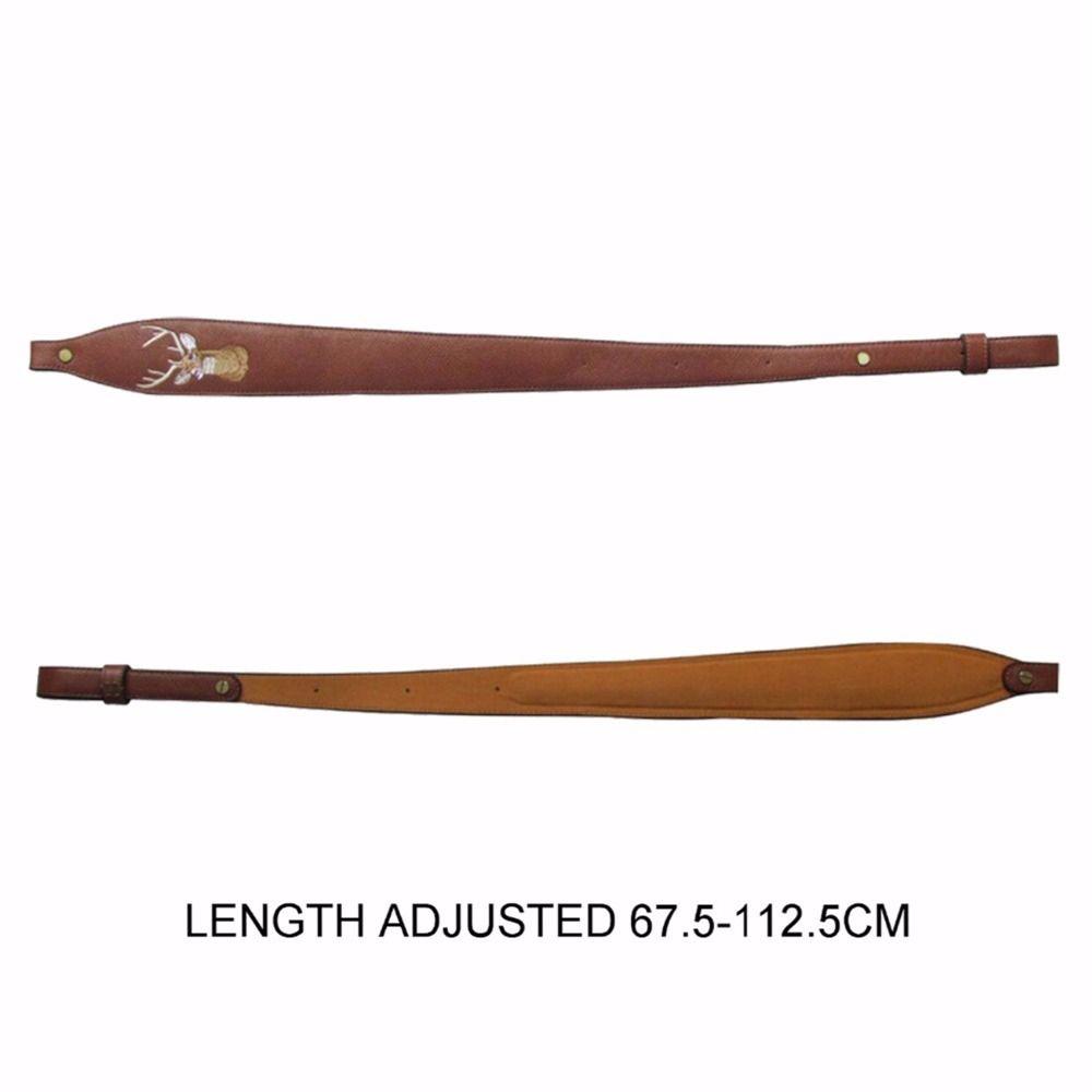 Tourbon accessoires de pistolet de chasse en cuir fusil élingue fusil de chasse ceinture de tir cintre portant la bandoulière ajustée 67.5-112.5 cm