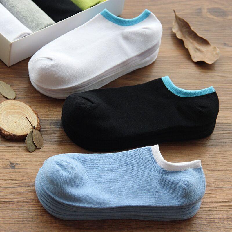 Calcetines de los hombres corta A41 primavera verano corto calcetines de algodón puro calcetines poco profundas