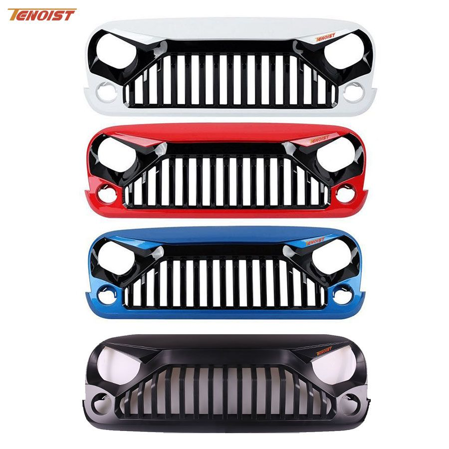 High Strength Black White Red Blue Colorful ABS Plastic Racing Grille For Wrangler JK 07-16