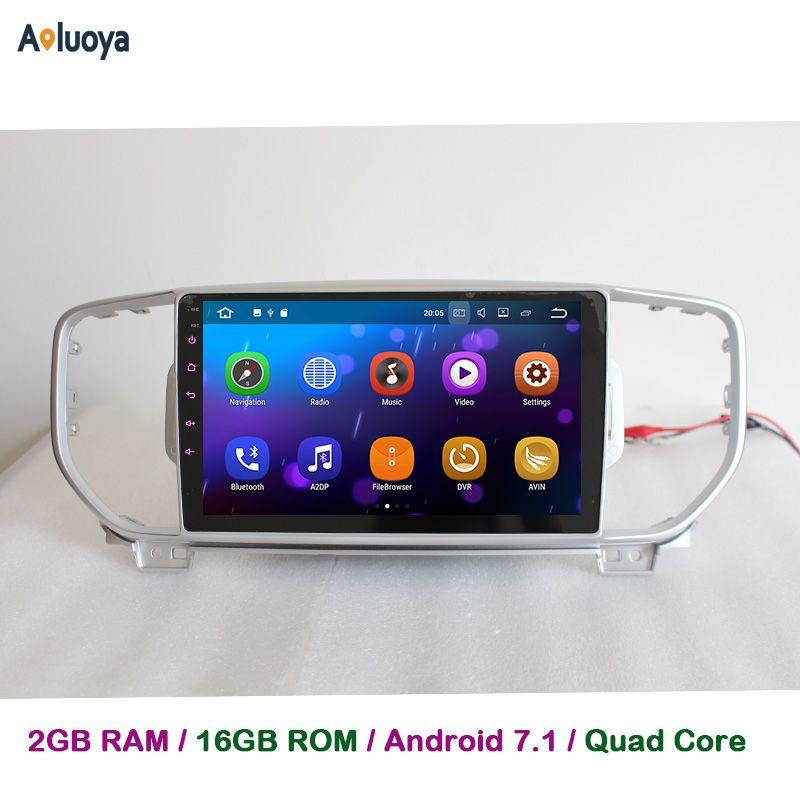 Aoluoya 2GB RAM Quad Core Android 7.1 CAR DVD Player Radio GPS Navigation For KIA Sportage KX5 2016 2017 in dash car audio WIFI