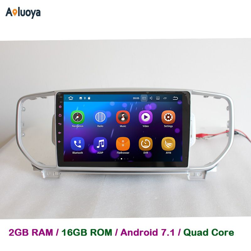 Aoluoya 2GB RAM Quad Core Android 7.1 CAR DVD Player Radio GPS Navigation For KIA Sportage KX5 2016 2017 in dash car audio WIFI