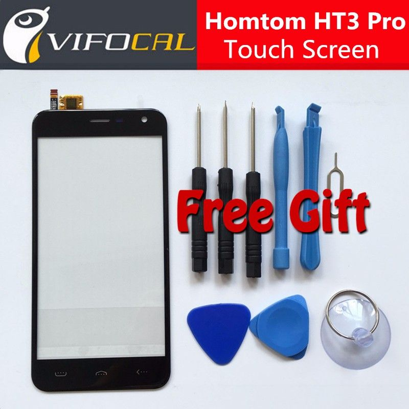 Homtom HT3 Pro touch screen + Tools Set Gift 100% New Digitizer glass panel Assembly Replacement for mobile phone