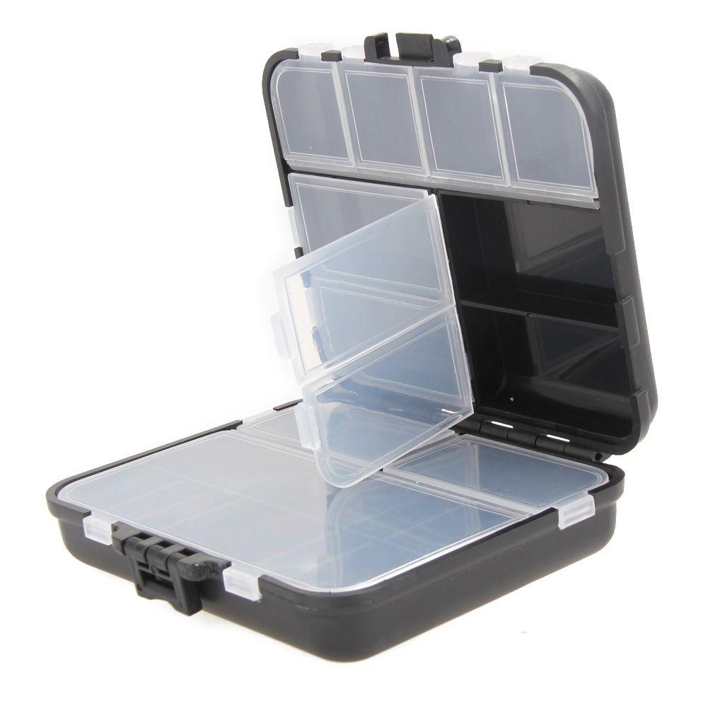 26 Grids Fliegenfischen Box Kunststoffkoffer Locken Löffel Haken Bait Tackle Stecker Pesca Wasserdicht Angelgerät Boxen