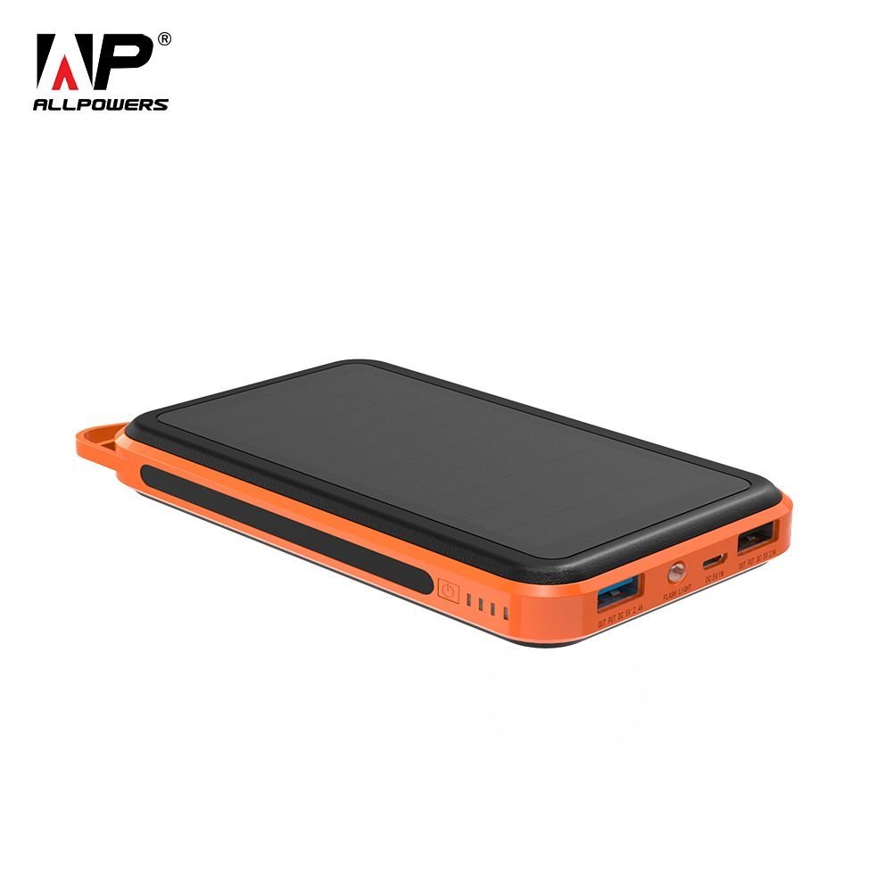ALLPOWERS 15000mAh Power Bank Portable Solar External Battery Phone Charger for iPhone <font><b>iPad</b></font> Samsung Huawei Xiaomi Cell Phones