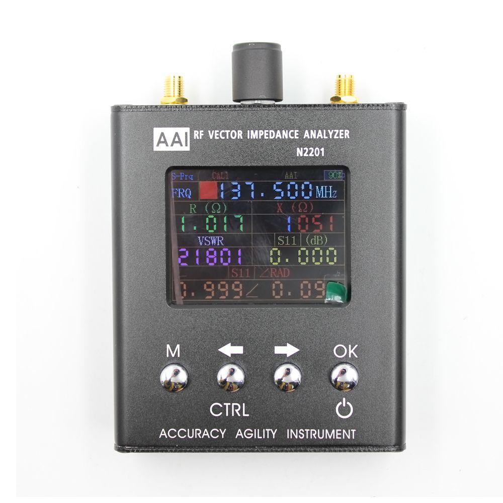 2018 neue Ankunft N1201SA upgrade verison 140 MHz-2,7 GHz UV RF ANT SWR Antennenanalysator Meter Tester N2201SA Radio tester