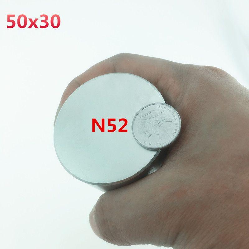 1pcs N52 Neodymium magnet 50x30mm gallium metal super strong magnets 50*30 round Neodimio magnet Powerful  permanet magnet 45x30