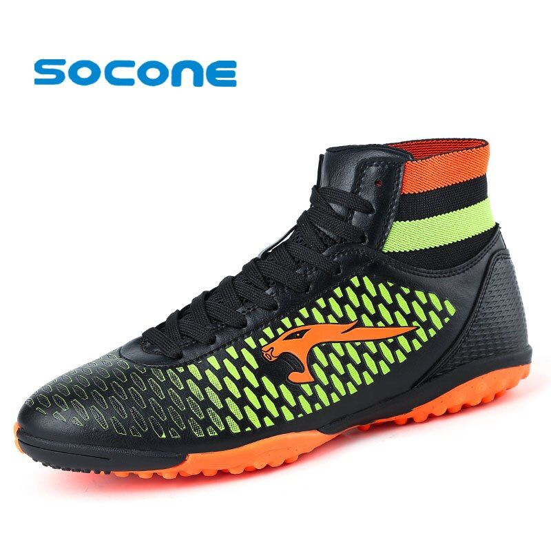 Socone New Arrival Soccer Shoes Men/kid/boy Outdoor Football Boots Outdoor Athletic Sport Sneakers Professional chuteira futebol