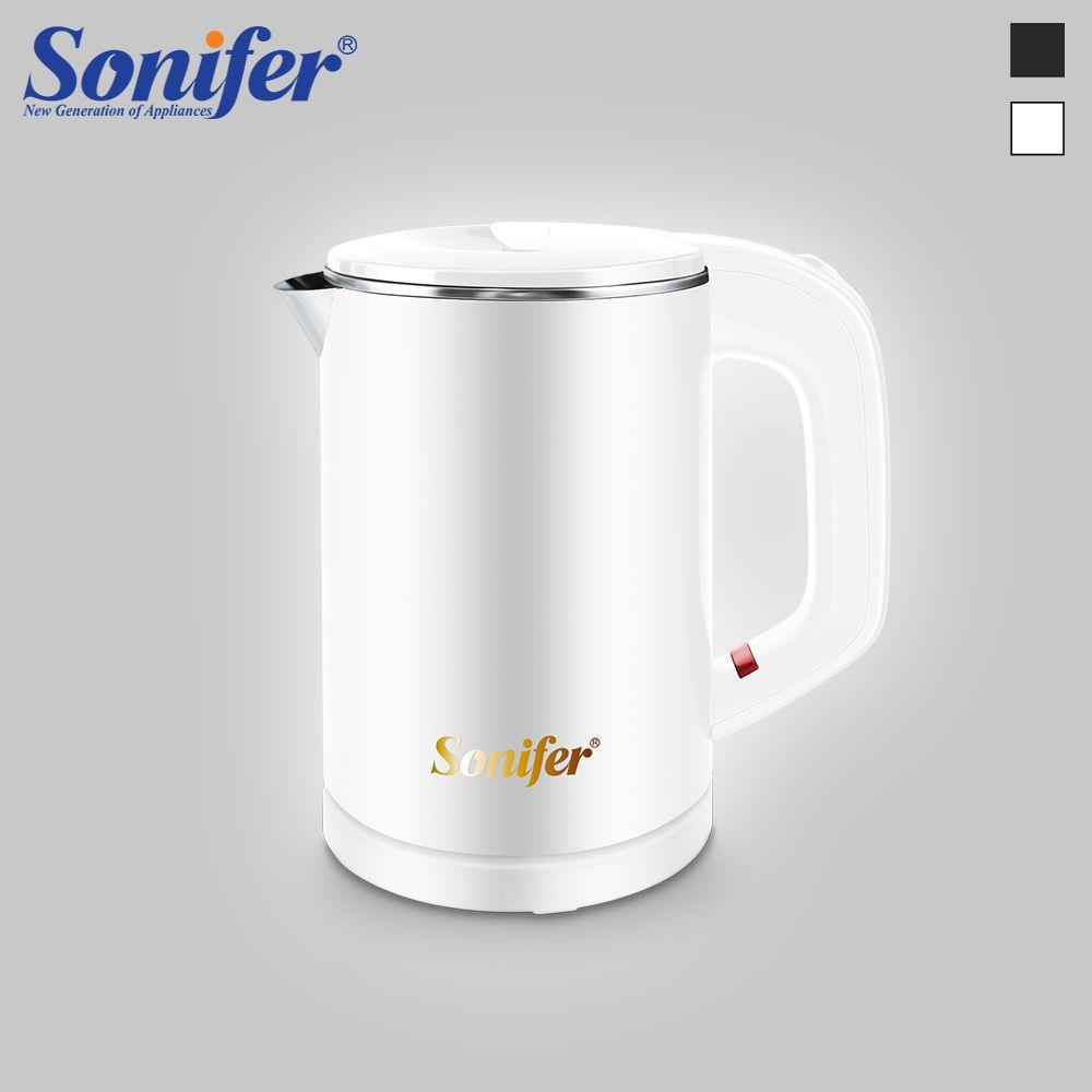 0.6L voyage Mini bouilloire électrique 304 acier inoxydable tranquillement sans fil Portable 600W chauffage électrique chaudière eau théière Sonifer