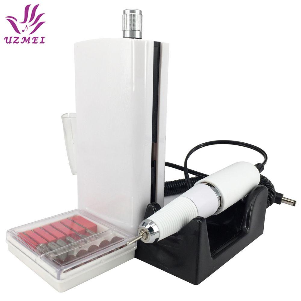 Nueva Llegada 30000 RPM Eléctrica Uñas Taladro Máquina Portátil Inalámbrico Recargable Manicura Pedicura Uñas máquina de Pulido