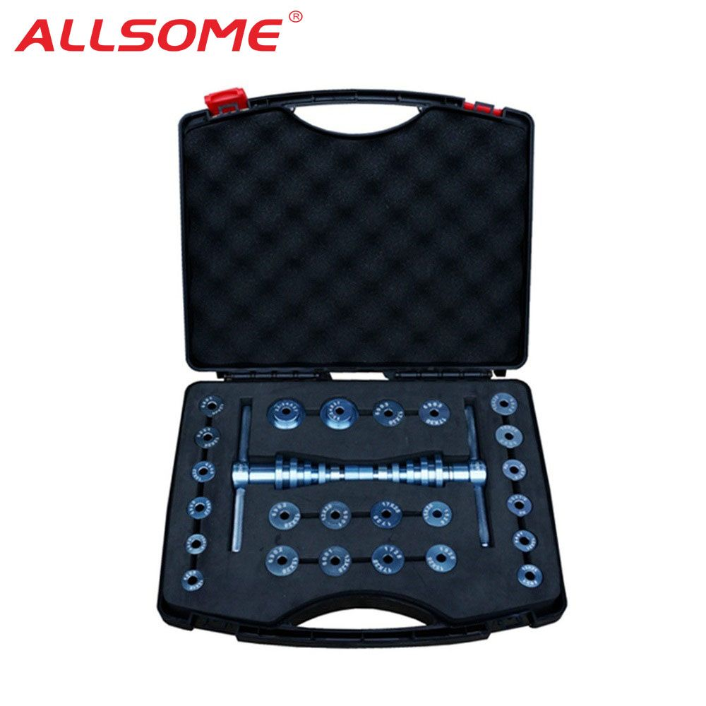 ALLSOME Bicycle Bottom Bracket Hub Bike BB Axis Bearing Removal Press Installation Tool Kit Set Hand Tool Set HT1637