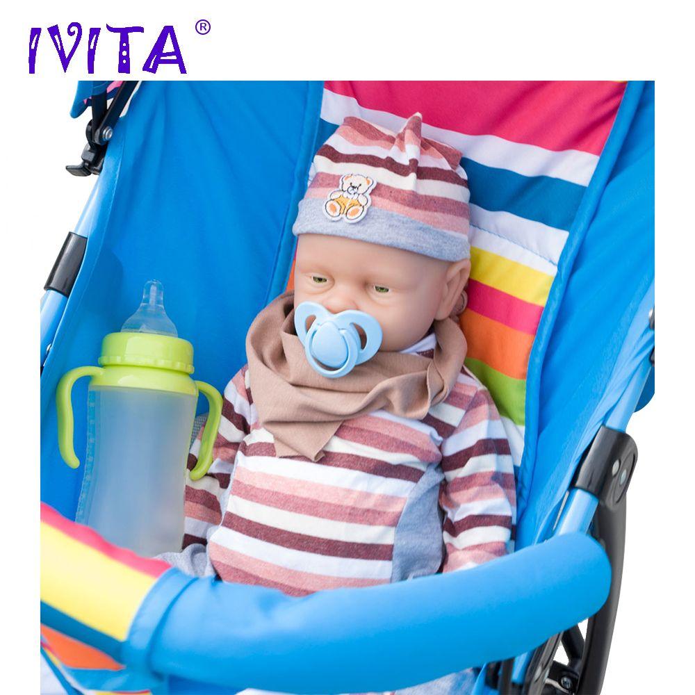 IVITA 46cm Baby Doll Reborn Dolls Born Babies Full Silicone Dolls Reborn Alive Doll Girl Boneca Reborn Silicone Completa Toys