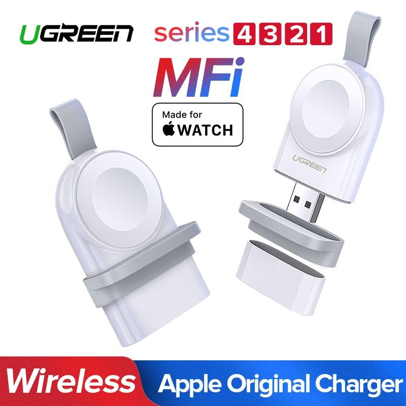 Ugreen Charger For Apple Watch 4 Charger Fast Wireless USB Charger Series 4 3 2 1 MFi Certified Original For Apple Watch Charger