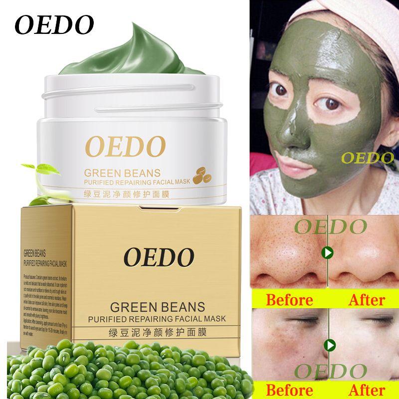 Hot visage nettoyage haricot mungo boue Peeling acné point noir traitement masque dissolvant Contractive pores blanchiment hydratant soins crèmes