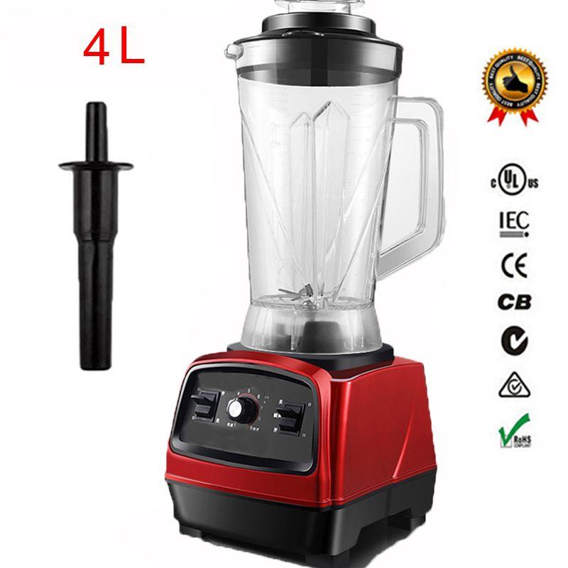 2800 watt 3.3HP BPA FREI 4L kommerziellen professionelle smoothies leistungsstarke mixer mixer entsafter mit deutsch motor