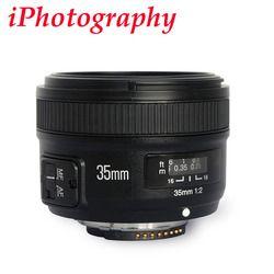 Yongnuo YN35mm F2.0 F2N lente, YN50mm lente para Nikon F montaje D7100 D3200 D3300 D3100 D5100 D90 DSLR Cámara, para la cámara de Canon DSLR