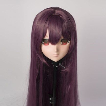 (MSM01AD) Individuelle Weiblich/Mädchen Harz 3/4 Kopf Cosplay Japanischen Rolle Spielen Anime Scáthach Kigurumi Maske Crossdresser Puppe