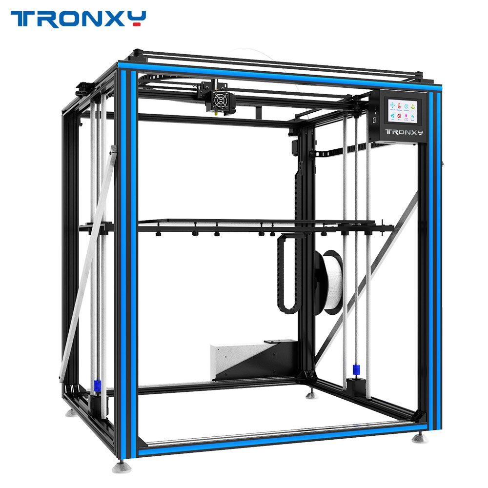 Heißer verkauf Tronxy X5ST-500-2E Cyclops 3D Drucker 2 In 1 Out Big Size Brutstätte Doppel Extruder Motor