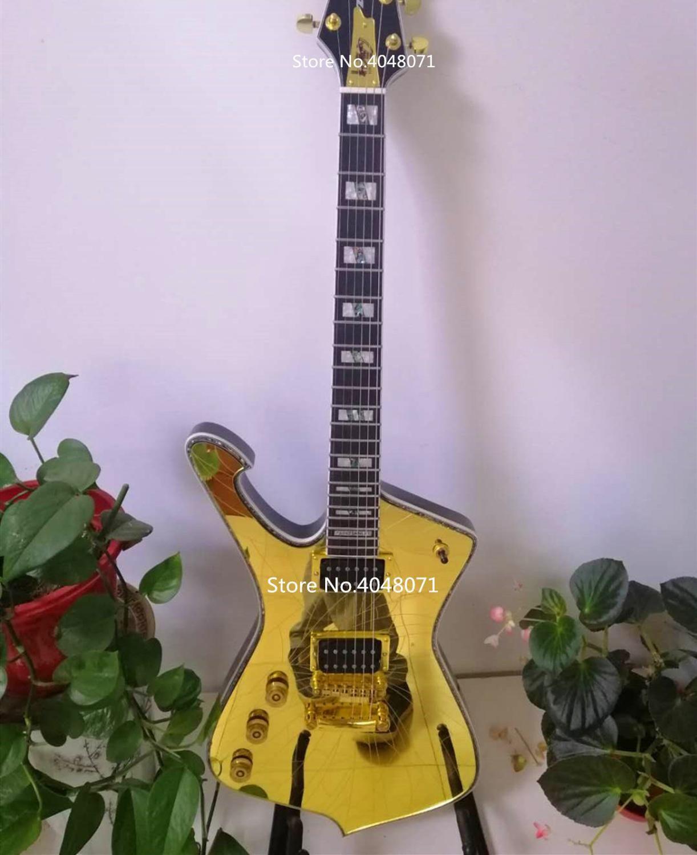 Custom Neue Ankunft Spiegel risse paul stanley Elektrische Gitarre 6 saiten China top qualität Alien Guitarra musical instruments