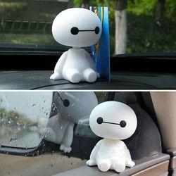 Moda plástico coche Interior Robot Bobble cabeza sacudiendo cabeza Auto juguetes Big Hero Baymax decoración del coche muñeca ornamento Car- estilo