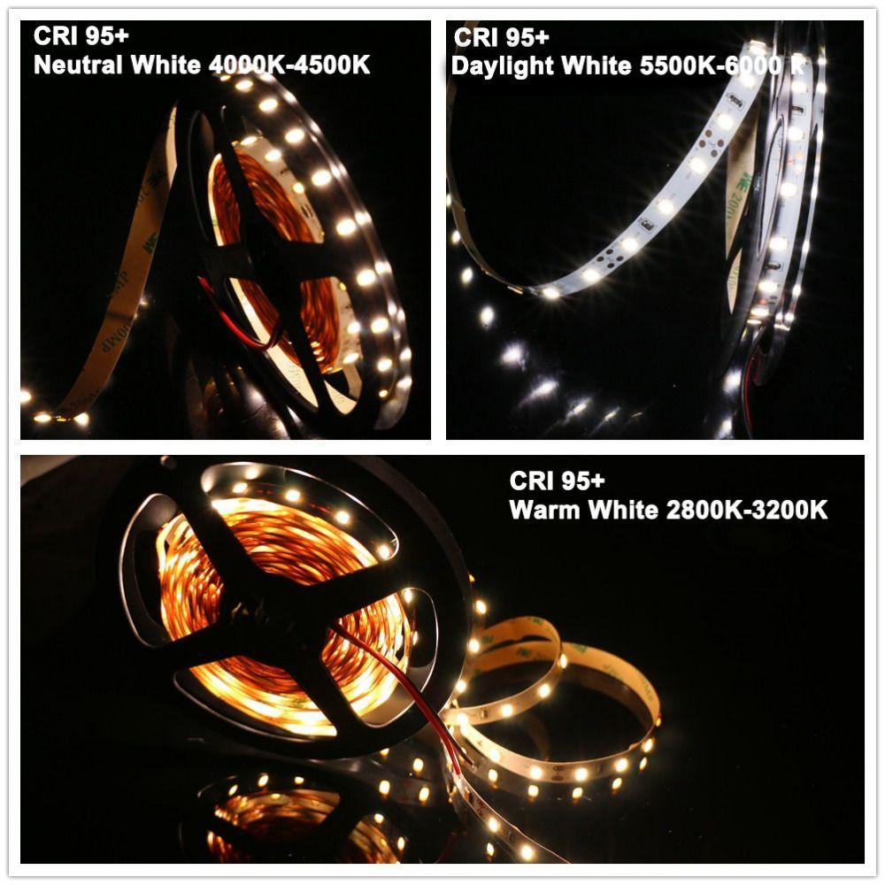 MARSWALLED Hohe CRI95 + LED Streifen Licht SMD5630 Ultra Helle Warme Weiße Neutral Weiß Tageslicht Weiß Spiel 5600 karat