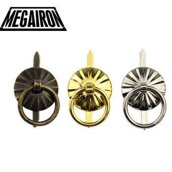 MEGAIRON 10 Pcs Vintage Boîte à Bijoux Poignées Mini Tiroir Anneau Tire Fer Cas Poignées et Dresser Poignées 19mm 0.74