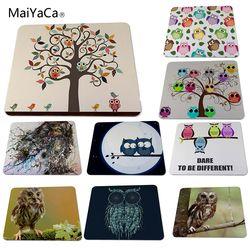 Maiyaca Lucu Burung Hantu Hewan Mousepad Menghias Meja Anda Di Rumah dan Meja Kantor Gming Mouse Pad Ukuran (22X18X0.2 Cm)