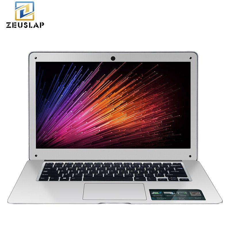 ZEUSLAP 14 pouces 8 GB RAM + 128 GB SSD + 1 TB HDD Windows 10 Système 1920X1080 P FHD Intel Quad Core Ordinateur Portable Ultrabook Ordinateur Portable