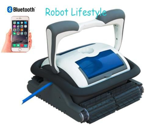 Newest 18m cable robot swimming pool cleaner,smartphone control,remote control, auto robotic swimming pool cleaner free shipping