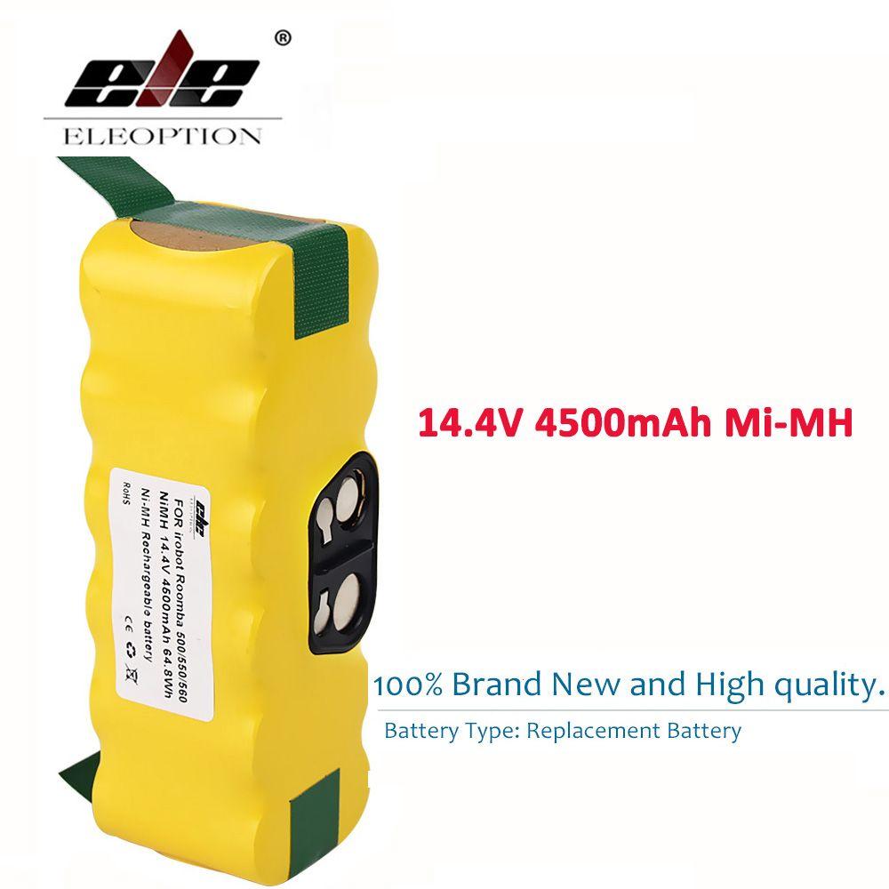 ELEOPTION 14.4V 4500mah Battery Pack for iRobot Roomba 560 530 510 562 550 570 500 581 610 620 630 650 780 532 770 760 860 870