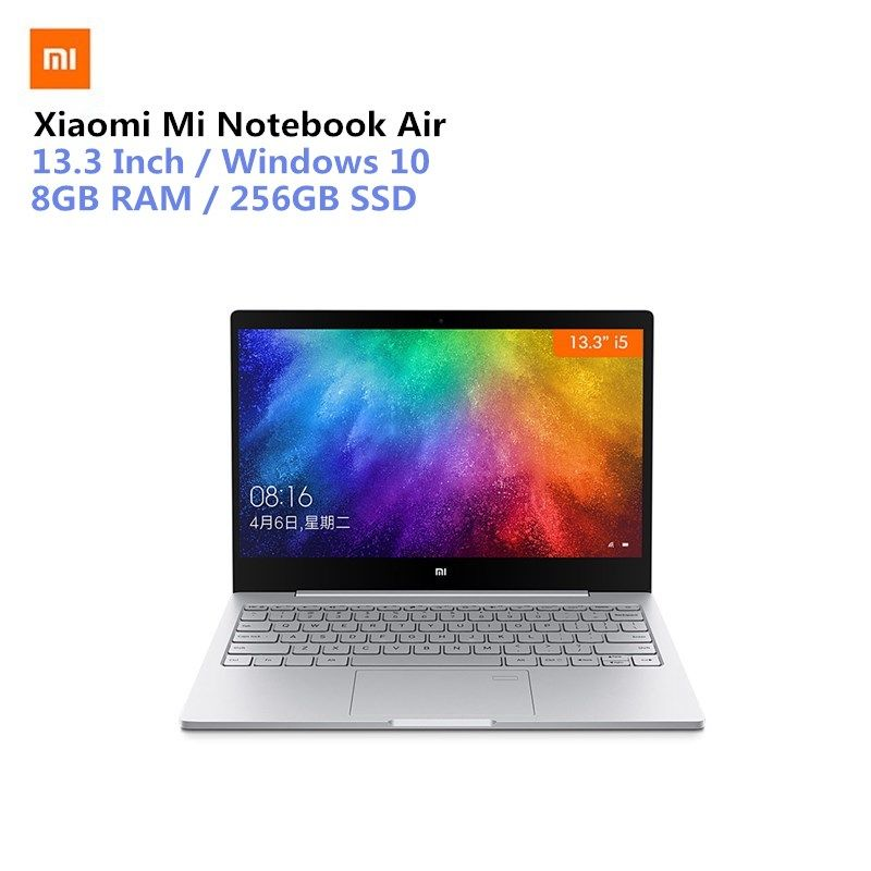 Xiao mi mi Notebook Air 13,3 Win10 CN Version Intel Core I5-7200U Dual Core 2,5 ghz 8 gb RAM 256 gb SSD Fingerprint Sensor Typ-C