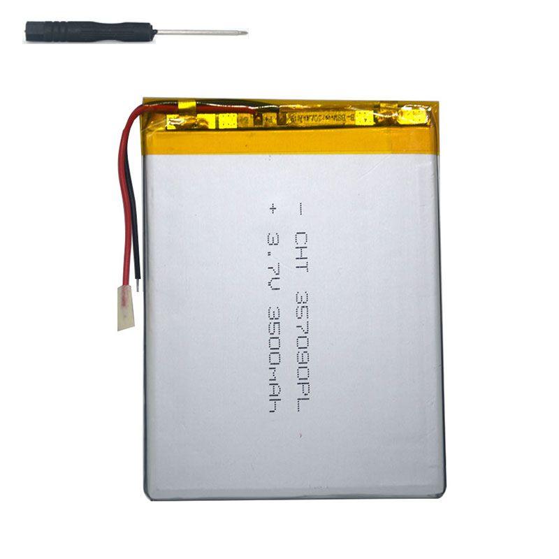 7 pouce tablet universel batterie 3.7 v 3500 mAh Batterie au lithium polymère pour Huîtres T72HMi 3G + outil accessoires tournevis