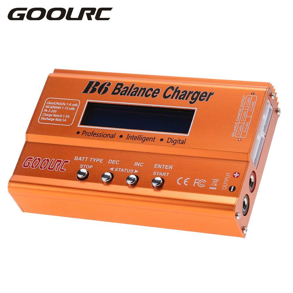 GoolRC Original RC Drone Parts B6 Mini Multi-functional Balance Charger Discharger for LiPo Lilon LiFe <font><b>NiCd</b></font> NiMh Pb Battery